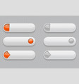 web buttons white 3d icons vector image vector image