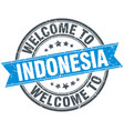 welcome to indonesia blue round vintage stamp vector image vector image