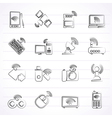 Wireless and communications icons vector image vector image