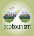 ecobike-mountain-icon vector image