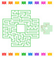 abstract square isolated labyrinth green color on vector image vector image