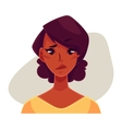 African girl face upset confused facial vector image vector image