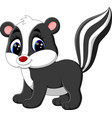 baby skunk cartoon vector image