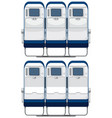 back of airplane seat vector image vector image