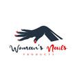 beauty nail hand logo vector image