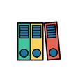 binders flat icon sign symbol vector image