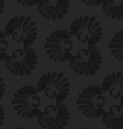 Black textured plastic flourish ornament vector image vector image
