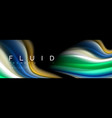 bright colorful liquid fluid lines on black vector image