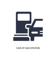 car at gas station icon on white background vector image vector image
