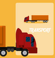 cargo truck transport vehicle vector image
