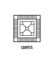carpet flooring flat linear icon vector image vector image