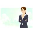 Cheerful businesswoman vector image vector image