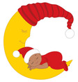Christmas Baby vector image vector image