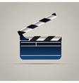 Cinema Film Clap Board Icon vector image vector image