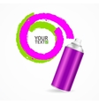Color Spray Can Write Speech Bubble vector image vector image