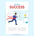 concept business victory happy businesswoman vector image
