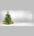 congratulatory banner with christmas tree vector image