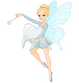 Cute Tooth Fairy flying with Tooth vector image