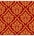 Damask seamless pattern with orange and red colors vector image vector image