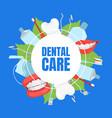 dental care banner template dentistry website vector image vector image