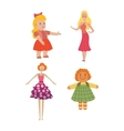 Doll girl toy character vector image vector image