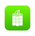 dynamite sticks icon digital green vector image