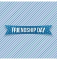 Friendship Day greeting textile Banner vector image vector image