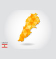geometric polygonal style map of lebanon low poly vector image vector image