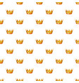 gold crown pattern vector image