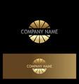 gold round company logo vector image