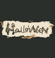 grunge halloween banner with typography vector image vector image