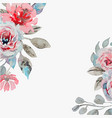 handmade watercolor background with roses vector image
