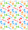 happy birthday pattern background vector image