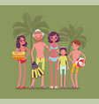 happy family enjoy rest at the resort vector image