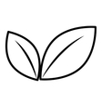 isolated flower leaves graphic vector image vector image