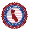 Label sticker cards of State California USA vector image