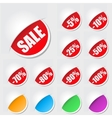 Labels for sale vector image vector image