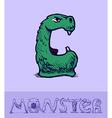 Monster font vector image vector image