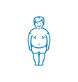 obese person linear icon concept obese person vector image vector image