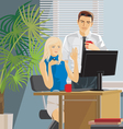office work man and woman vector image vector image