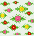 pink yellow and red flower bouquets in a spring vector image