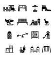 playground equipment icons set simple style vector image vector image