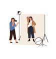 portrait photography backstage female vector image vector image
