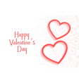 romantic valentines day background with two hearts vector image vector image