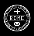 rome mail stamp air mail postage service vector image vector image