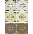 Royal Filigree Patterned Backdrop Set vector image vector image
