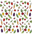 Seamless kitchen background of vegetables vector image
