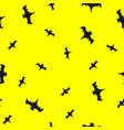 seamless pattern with bats vector image