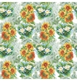 Seamless pattern with yellow sunflowers painted in vector image vector image