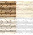 set of brick textures vector image vector image